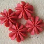 4pcs - Mini Coral Cabochon..
