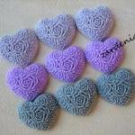 9pcs - Heart Flower Caboch..